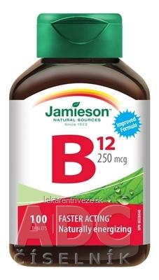 JAMIESON VITAMÍN B12 KYANOKOBALAMÍN 250 µg tbl 1x100 ks