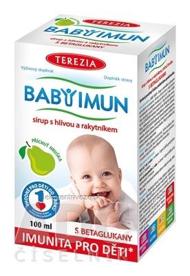 TEREZIA BABY IMUN sirup s hlivou a rakytníkom príchuť hruška 1x100 ml