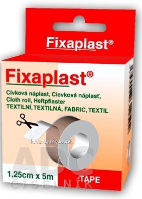 FIXAplast Cievková náplasť textilná 1,25cm x 5m, 1x1 ks