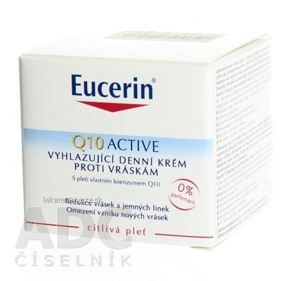 Eucerin Q10 ACTIVE denný krém proti vráskam vyhladzujúci na citlivú pokožku 1x50 ml