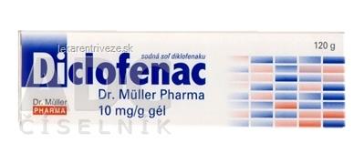 Diclofenac Dr. Müller Pharma 10 mg/g gél gel (tuba laminát.) 1x120 g