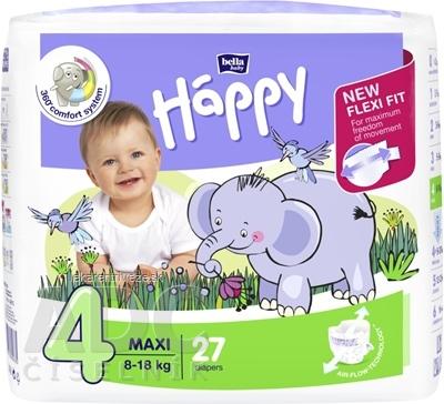 bella HAPPY 4 MAXI detské plienky (8-18 kg) 1x27 ks