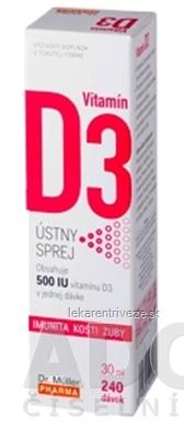Dr. Müller Vitamín D3 ústny sprej 1x30 ml