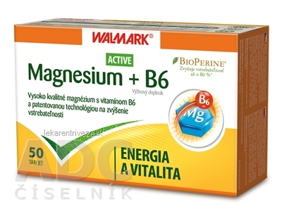 WALMARK Magnesium Active + B6 tbl 1x50 ks