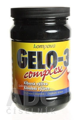 kompava GELO-3 COMPLEX prášok, príchuť pomaranč, 1x390 g