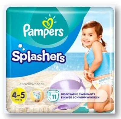 PAMPERS SPLASH MAXI 4-5 detské plienky na plávanie (9 - 15 kg) 1x11 ks