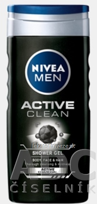 NIVEA MEN SPRCHOVÝ GÉL Active Clean 1x250 ml