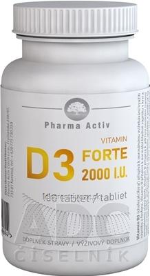 Pharma Activ Vitamin D3 FORTE 2000 I.U. tbl 1x100 ks