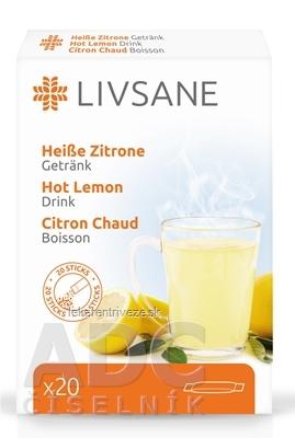 LIVSANE Horúci citrón vrecúška (po 5 g) prášok na prípravu nápoja, 1x20 ks