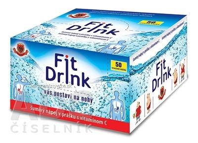 HERBEX FIT DRINK šumivý nápoj v prášku, vrecúška 1x50 ks