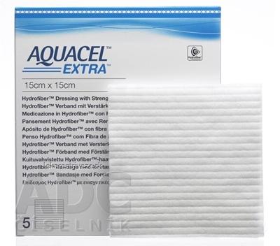 AQUACEL EXTRA Krytie na rany so spevneným vláknom, 15x15 cm, 1x5 ks