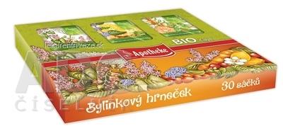 APOTHEKE KOLEKCIA Bylinkový hrnček BIO čaje 6 druhov bylinných a ovocných čajov v záparových vreckách 1x30 ks