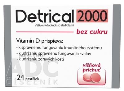 Detrical 2000 Vitamín D s príchuťou višňa pastilky 1x24 ks