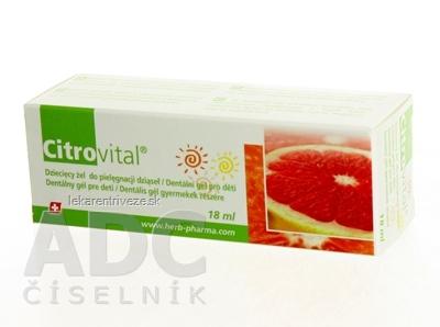 Citrovital Dentálny gél pre deti 1x18 ml