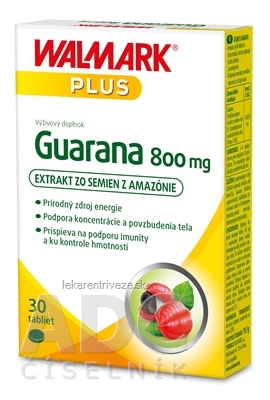 WALMARK Guarana 800 mg tbl (inov. obal 2019) 1x30 ks
