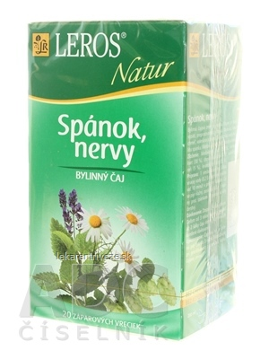 LEROS NATUR SPÁNOK, NERVY ČAJ 20x1,3 g (26 g)
