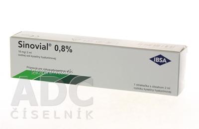 Sinovial 0,8 % viskoelastický roztok kys. hyalurónovej (16 mg/2 ml) 1x2 ml