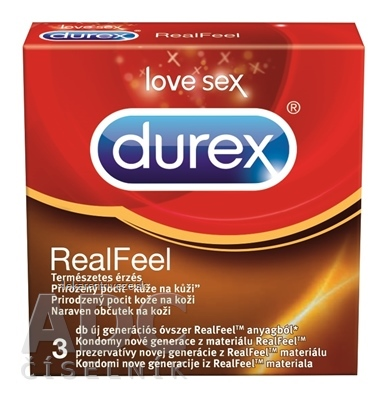 DUREX Real Feel nelatexový kondóm 1x3 ks