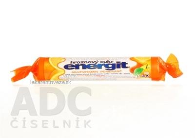 energit hroznový cukor MULTIVITAMÍN - POMARANČ pastilky 1x17 ks (37,4 g)