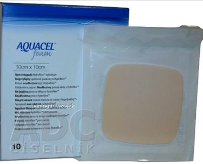 AQUACEL Foam Hydrofiber krytie na rany neadhezívne penové, 10x10 cm, 1x10 ks