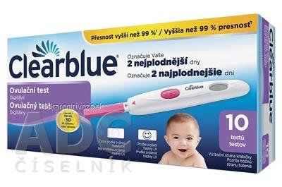 Ovulačný test Clearblue digitálny (držiak testu + testovacia tyčinka 10 ks) 1x1 set