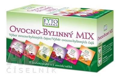 FYTO OVOCNO-BYLINNÝ MIX 6 druhov po 5 vrecúšok, 30x2 g (60 g)