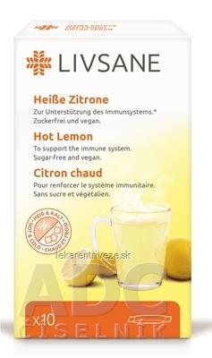 LIVSANE Horúci citrón vrecúška (po 4 g) prášok na prípravu nápoja, 1x10 ks