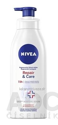 NIVEA Regeneračné telové mlieko Repair & Care veľmi suchá pokožka 1x400 ml