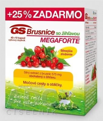 GS Brusnice so žihľavou MEGAFORTE 2015 cps 40+10 (25% zadarmo) (50 ks)