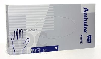 Ambulex rukavice VINYLOVÉ veľ. M, nesterilné, púdrované 1x100 ks
