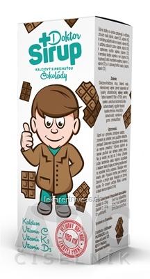 Doktor Sirup kalciový sirup s príchuťou Čokolády 1x100 ml