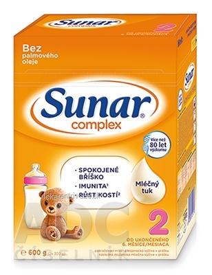 Sunar Complex 2 následná mliečna výživa (od ukonč. 6. mesiaca) (inov.2020) 1x600 g