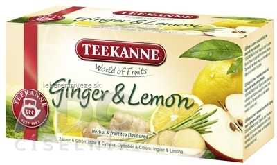 TEEKANNE WOF GINGER & LEMON ovocno-bylinný čaj 20x1,75 g (35 g)