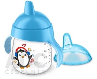 AVENT HRNČEK Premium 260 ml s držadlami od 12 mesiacov, tvrdý náustok, chlapec, 1x1 ks
