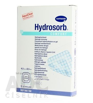 HYDROSORB COMFORT kompres absorpčný hydrogélový, so samolepiacim okrajom (4,5x6,5 cm) 1x5 ks