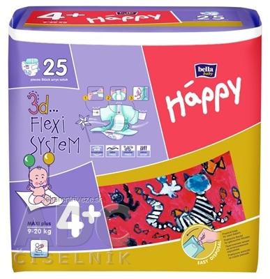 bella HAPPY 4+ MAXI plus detské plienky (9-20 kg) 1x25 ks