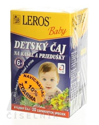 LEROS BABY DETSKÝ ČAJ NA KAŠEL A PRIEDUŠKY 20x1,5 g (30 g)