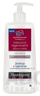NEUTROGENA NR Intenziv. regeneračné telové mlieko pre citlivú pokožku, 1x250 ml