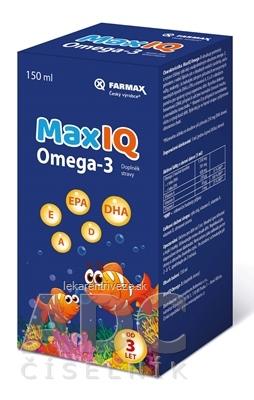FARMAX MaxIQ Omega-3 sirup 1x150 ml
