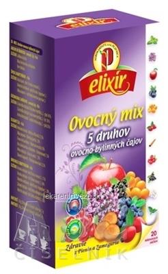 AGROKARPATY elixír Ovocný MIX 5 druhov ovocno bylinných čajov 20x1,5 g (30 g)