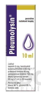 PLEUMOLYSIN gto por (fľ.skl.hnedá s bezpeč.uzáver.) 1x10 ml