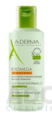 A-DERMA EXOMEGA CONTROL GEL LAVANT ÉMOLLIENT 2EN1 zvláčňujúci umývací gél, deti, 1x200 ml