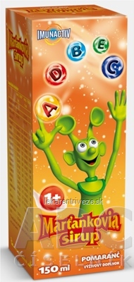 WALMARK MARŤANKOVIA SIRUP pomaranč 1x150 ml