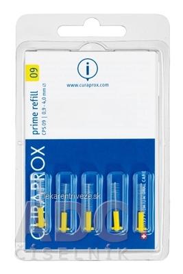 CURAPROX CPS 09 prime refill žltá medzizubné kefky bez držiaka 1x5 ks