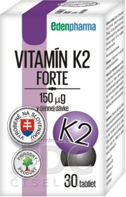 EDENPharma VITAMÍN K2 Forte tbl 1x30 ks