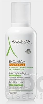 A-DERMA EXOMEGA CONTROL BAUME ÉMOLLIENT emolienčný balzam 1x400 ml