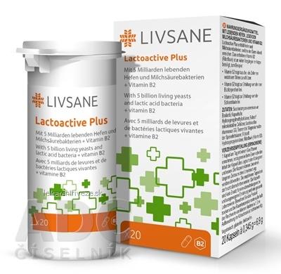 LIVSANE Laktoaktívne kapsuly plus vitamín B2 cps 1x20 ks