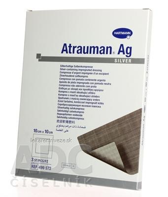 ATRAUMAN AG kompres impregnovaný, obsahuje striebro (10x10cm) 1x3 ks
