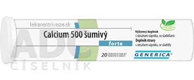 GENERICA Calcium 500 forte tbl eff 1x20 ks