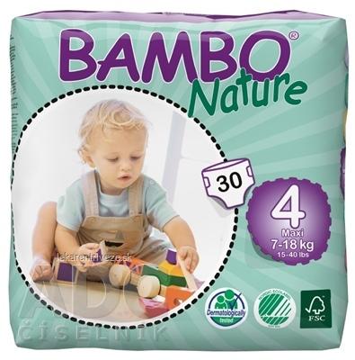 BAMBO MAXI 4 (7-18 kg) detské plienky priedušné, savosť 1000 ml, 1x30 ks